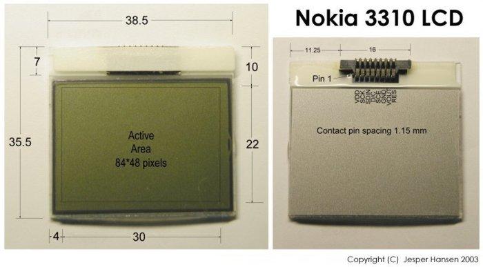 Descripción LCD Nokia 3310