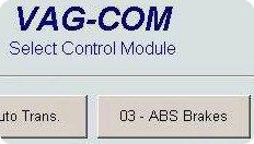 Comprobar el sistema ABS con Vag-Com