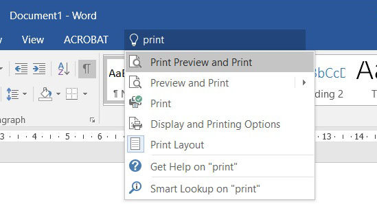 Printing on Office 2016