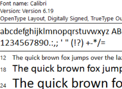 """The font Cambria / Calibri is not available on OS X. It Was Replaced with New Times Roman."""
