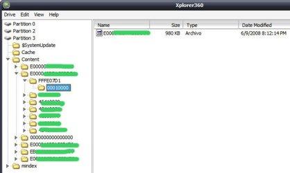 Seleccionamos la partición 3 en el Xplorer360